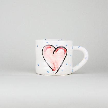 Charlie Mahon Grá Heart Mug
