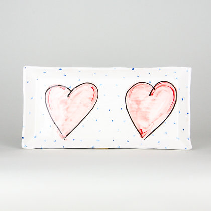 Charlie Mahon Grá Heart Platter