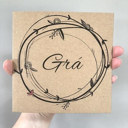 Grá Greeting Card - Lisa Nagle Creations