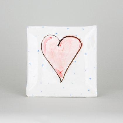 Charlie Mahon Grá heart square plate