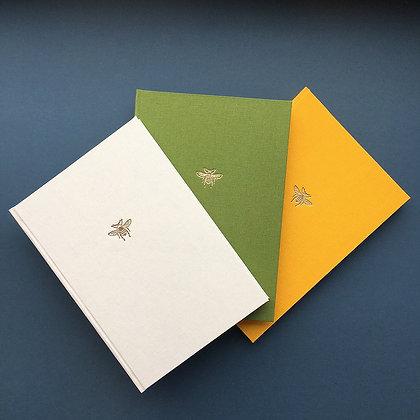 A5 Bee Linen Notebook