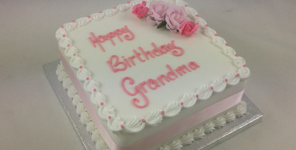 "8"" Madeira Cake - with simple décor"