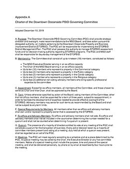 Draft PBID Governing Committee Charter -