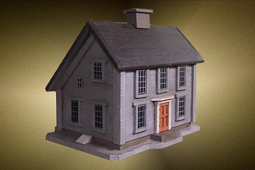 #055 Gray Historical Saltbox