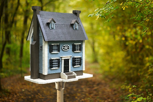 #016 Two story Narrow Blue House