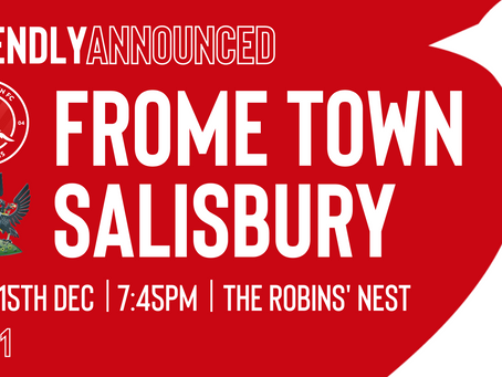 FRIENDLY: The Robins To Face Salisbury On Tuesday Night!