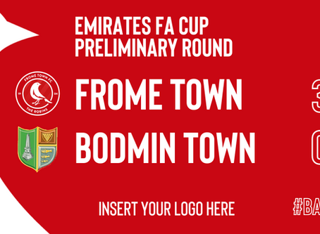 REPORT: Frome Town 3-0 Bodmin Town