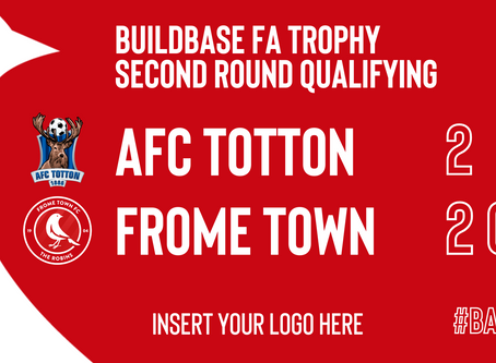 REPORT: AFC Totton 2-2 Frome Town (5-6 pens)