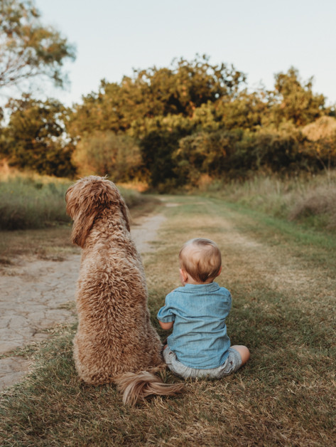 austin family photographer and child photographer loves incorporating pets!