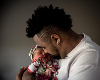 Daddy and his newborn