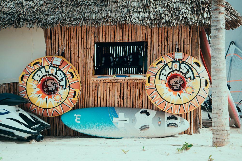 Beach bar in Zanzibar, Tanzania