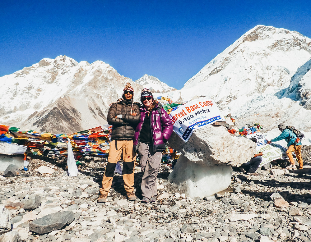 Yvonne at Everest Base Camp in Nepal