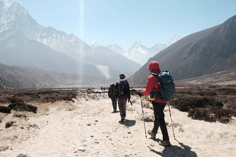 Hiking the Himalayas in Nepal with a group