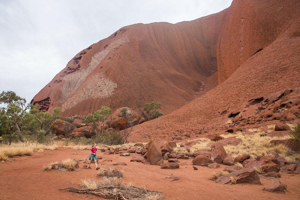 Uluru Base walk hike in australia
