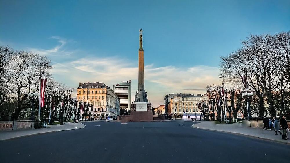 Monument in Riga, Latvia