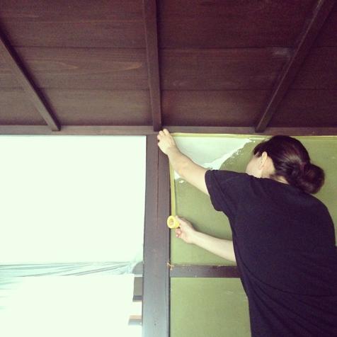 お客さま施工 左官壁塗り