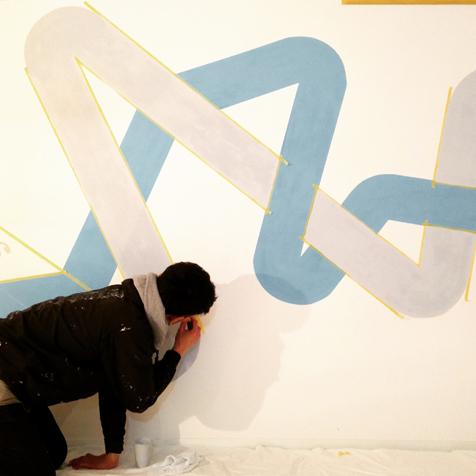 一期工事 壁画制作