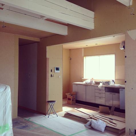 三期工事 キッチン移設