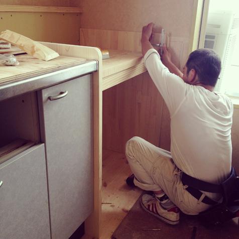 三期工事 手洗カウンター
