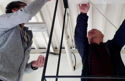 吊り棚フレーム取付