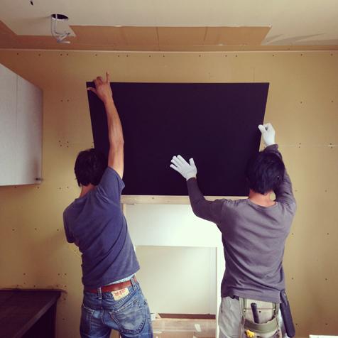 三期工事 キッチン黒板