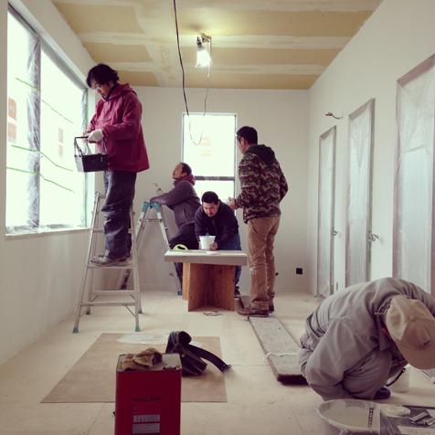 一期工事 塗装