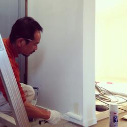 二期工事 壁塗装
