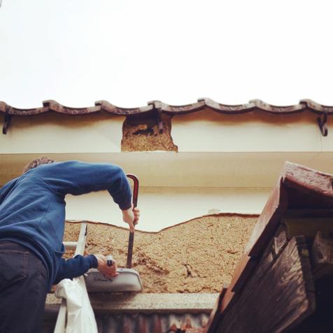 土蔵土壁タイルテスト用サンプル土採取