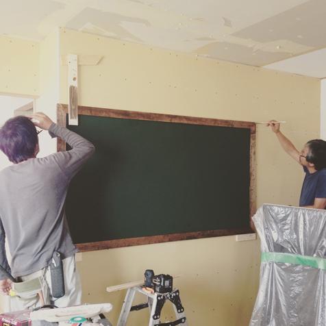 三期工事 子ども部屋黒板