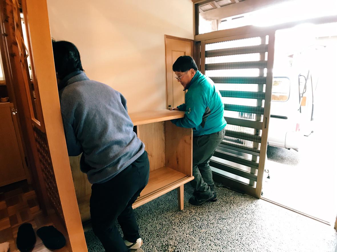 家具搬入 下足収納
