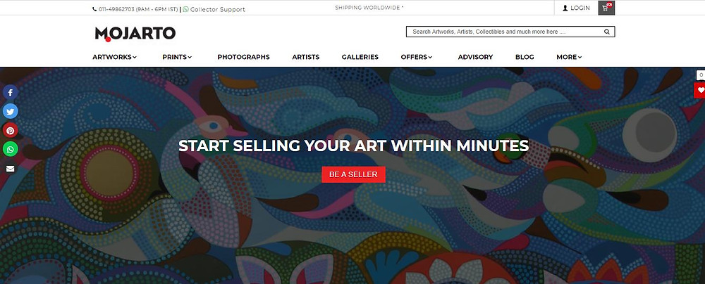 How to sell artworks on Mojarto