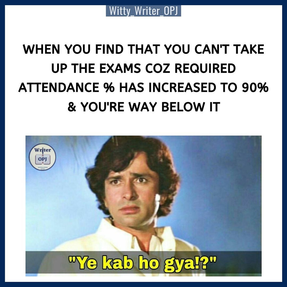 Funny Exam Meme for students featuring bollywood meme template