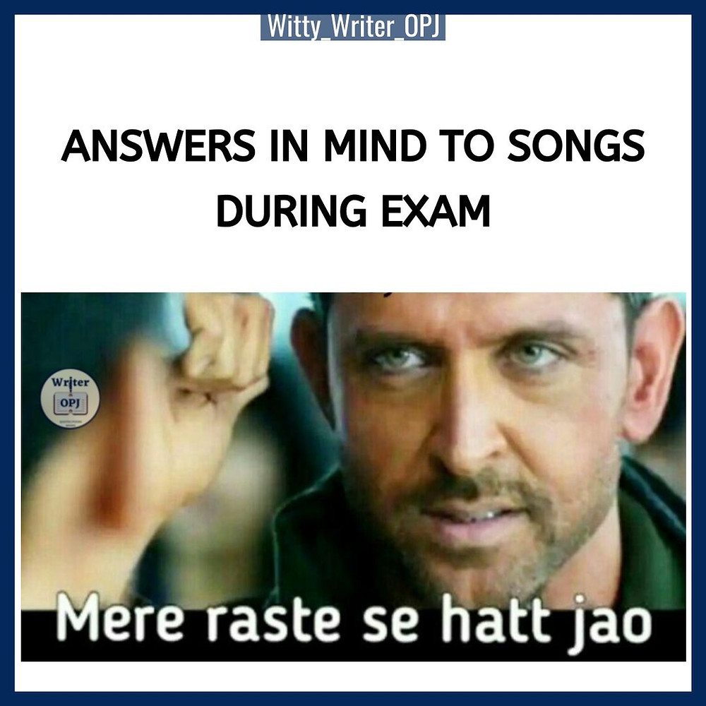 Funny Exam Memes for students featuring Hrithik Roshan in the meme template
