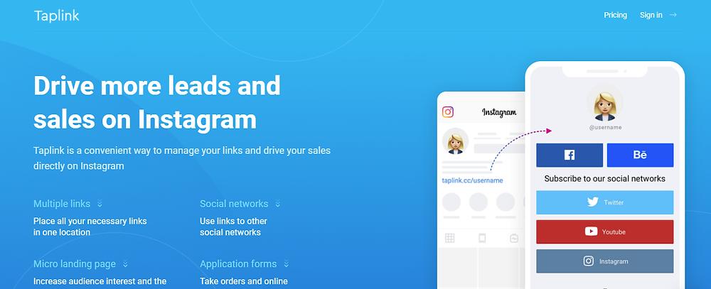 How to add multiple links in Instagram bio using Taplink