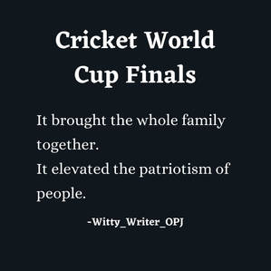 Quotes on Cricket World Cup Finals