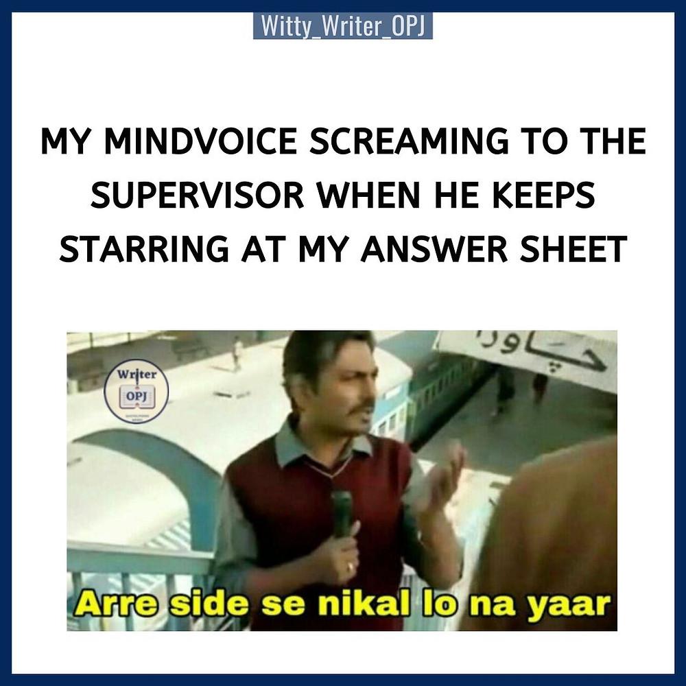 Funny Exam Memes for Students featuring Nawazuddin Siddique from Bajrangi Bhaijaan movie