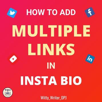 How to Add Multiple Links in Instagram Bio