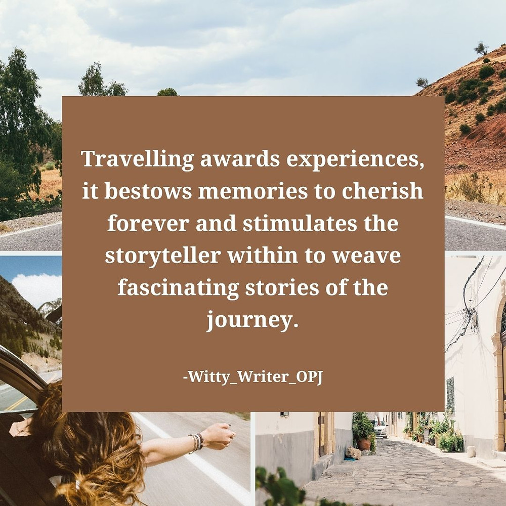 A Travel Quote describing the significance of travelling