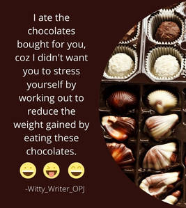 Funny Quotes Jokes on Chocolate and Frie