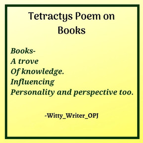 Tetractys Poem on Books