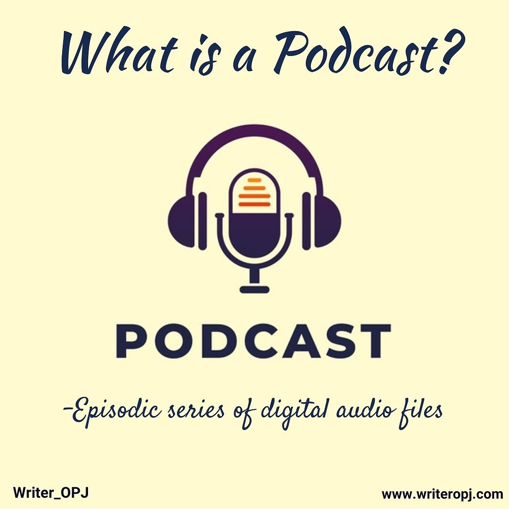 """This image answers the question, """"What is a podcast"""", and also explains the meaning of podcast"""