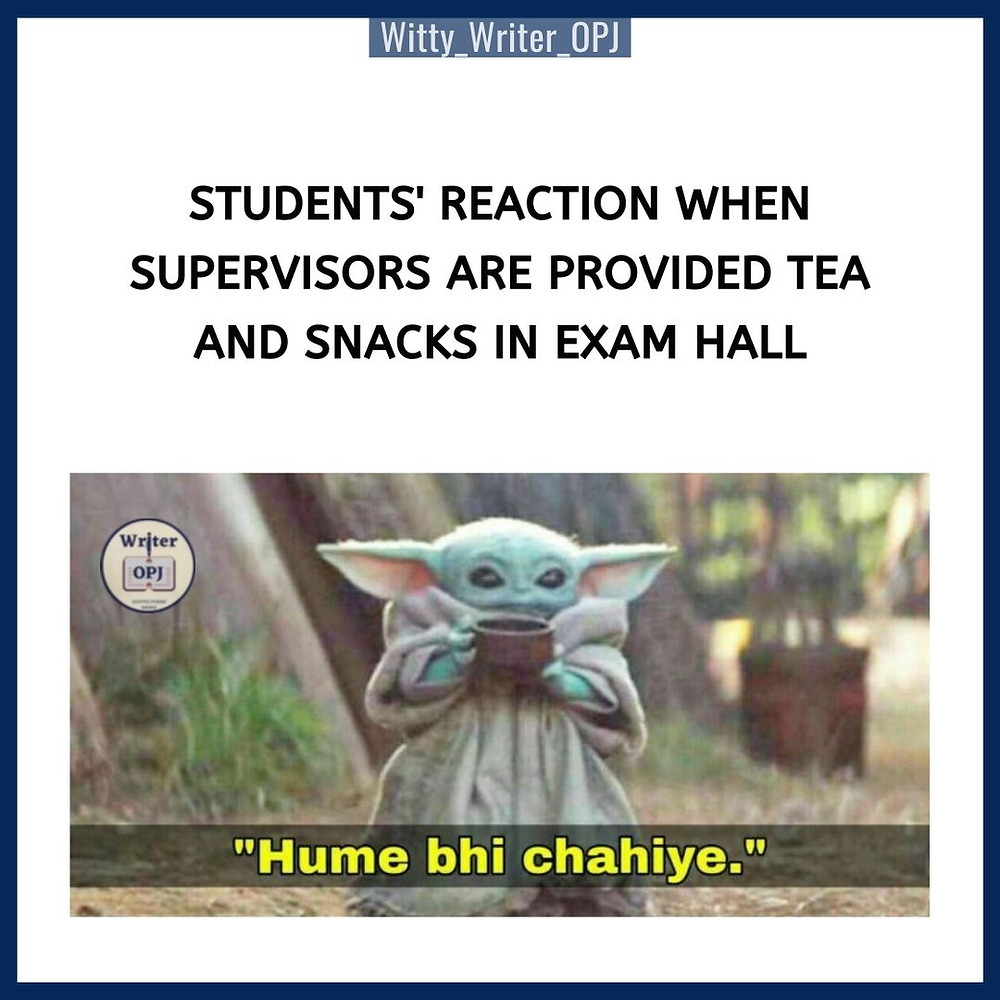Funny Exam memes on students featuring Yoda from Avengers movie
