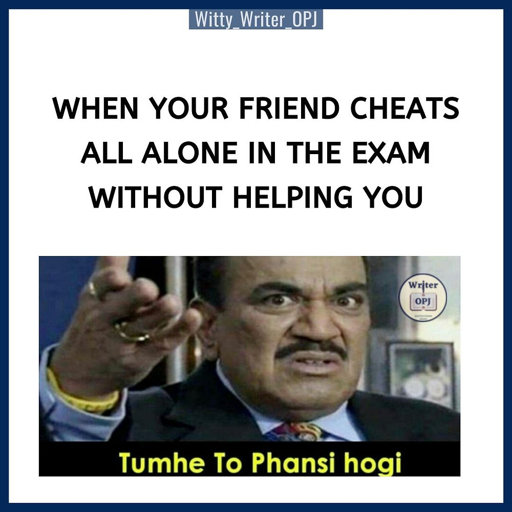 Funny Exam memes for students featuring ACP Pradyumna from CID show