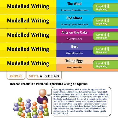 Modelled Writing Cards: Level 1 Beginning
