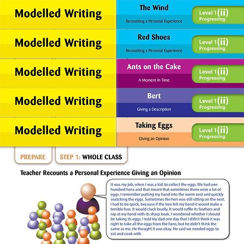 Modelled Writing Cards: Level 1 Progressing