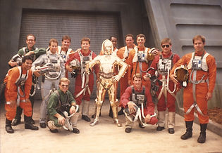 Future World Brass - Star Tours opening at Disney Hollywood Studios (1989) (Dave, kneeling, left)