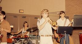 Dave Jones, high school rock band (1973)