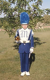 Dave Jones, 14, ready for first march (1969)