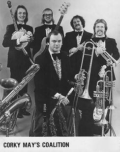 Corky May's Coalition (1978) (Dave, right, trumpet)