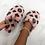 Thumbnail: Ari- Pink and Black Fluffy Printed Slipper Sliders